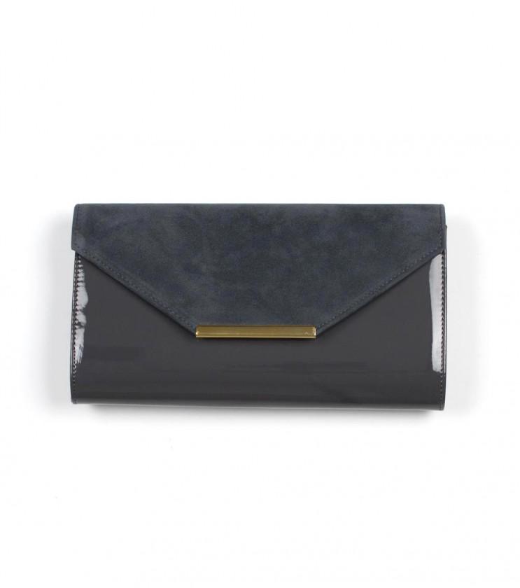 Малка чанта в цвят графит