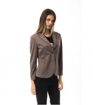 Дамско сако в цвят таупе Celidonia