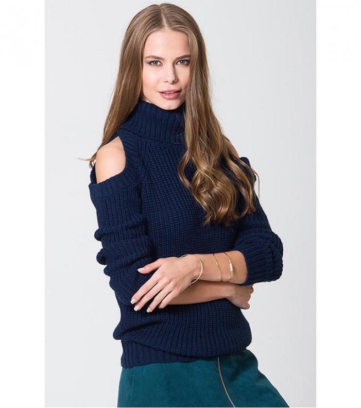 Дамски пуловер в тъмносиньо Adrienne