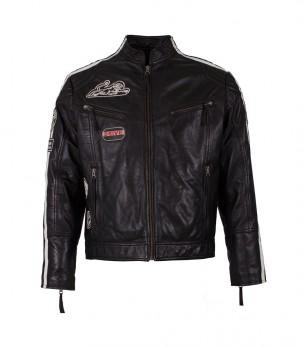 Черно мъжко яке от естествена кожа John