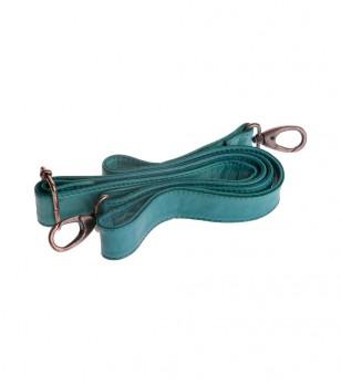 Кожена дръжка за чанта в синьо-зелен нюанс Darrell
