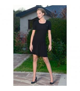 Вълнена черна рокля