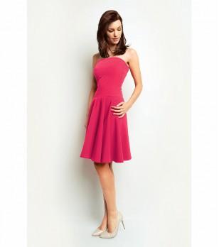 Розова разкроена рокля Juliana