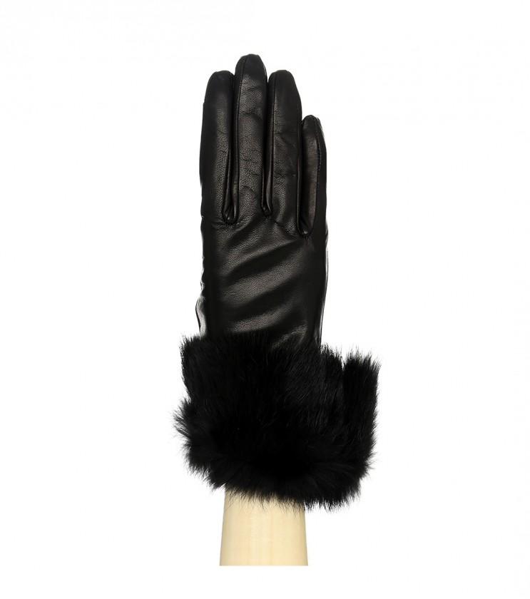 Черни дамски кожени ръкавици Brenda