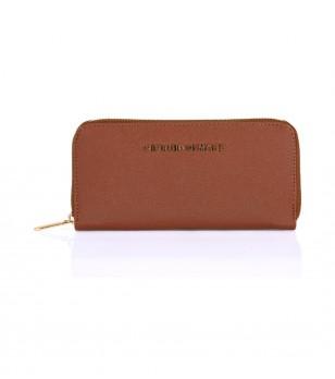Дамски портфейл в цвят камел