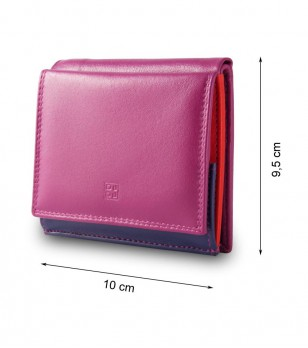 Unisex кожен портфейл в цвят циклама Dustin