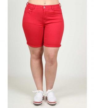Червени дамски памучни къси панталони Edona