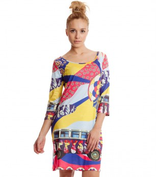 Многоцветна рокля Wadar