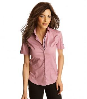 Розова дамска памучна риза Falia
