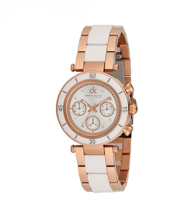 Дамски часовник в розово-златисто и бяло Aida