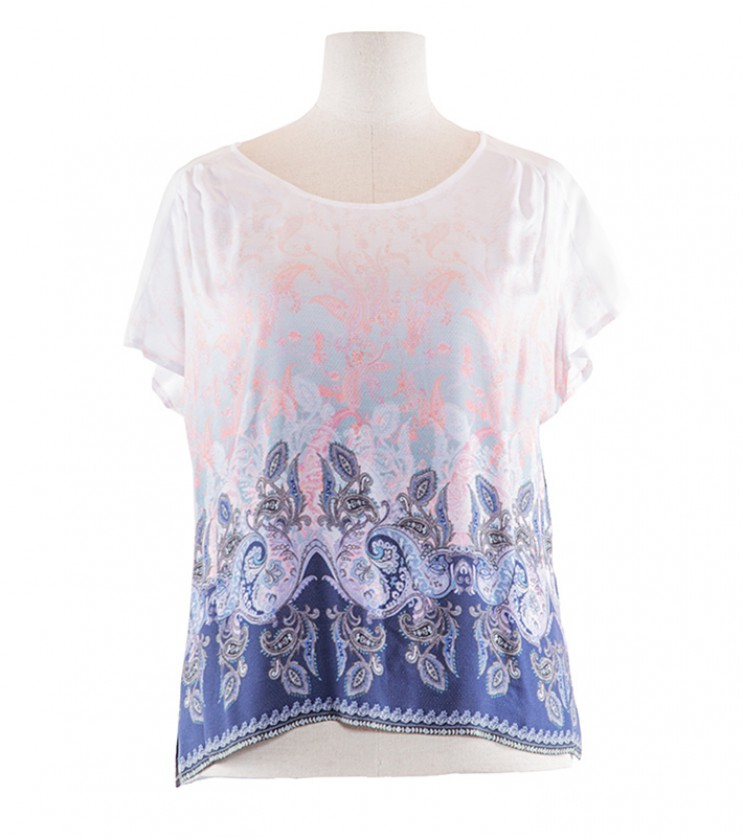 Дамска блуза в розови и сини нюанси Benita