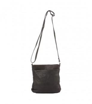 Тъмнокафява дамска чанта за рамо Gala