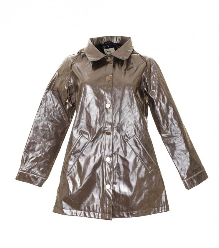 Дамско сребристо водоустойчиво яке