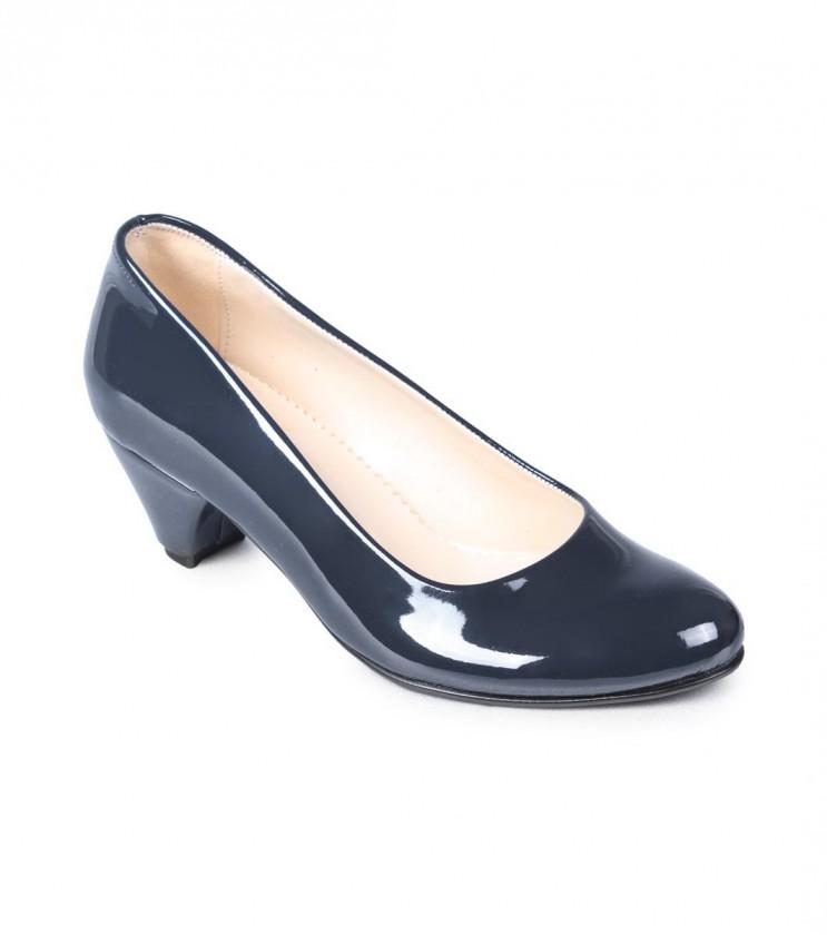 Тъмносини лачени обувки Aura на ток