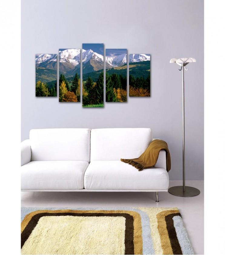 """Декоративно пано """"Снежната покривка на планините"""""""